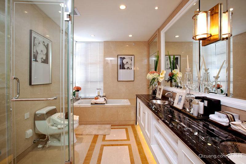 欧式风格精美奢华卫生间设计装修效果图
