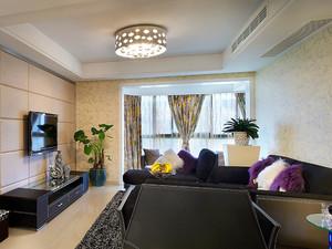 现代简约风格时尚精装两室两厅室内装修效果图