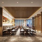 现代简约风格中餐厅设计装修效果图