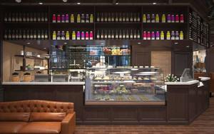 后现代风格冷色调咖啡厅设计装修效果图