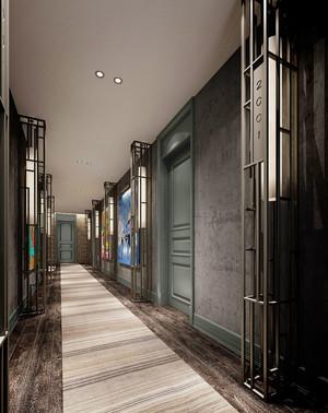 美式风格精致酒店过道设计装修效果图
