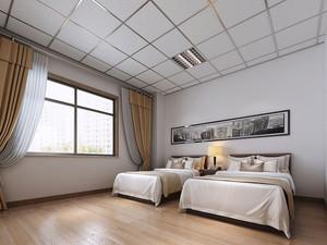 现代风格宾馆标准间设计装修效果图