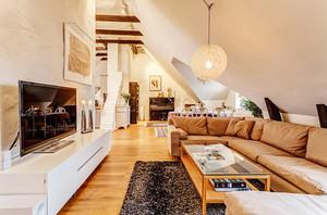 102平米北欧风格阁楼公寓设计装修效果图