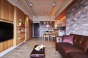 后现代风格时尚创意两室两厅室内装修效果图