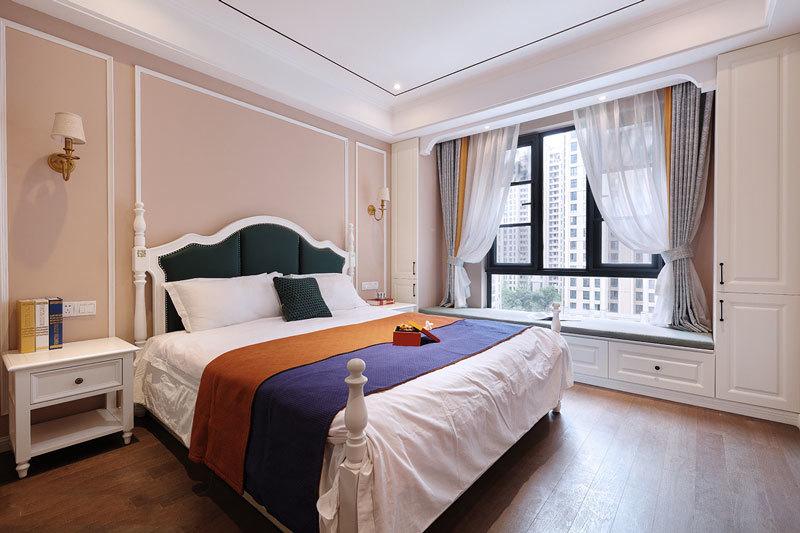 简欧风格暖色舒适卧室设计装修效果图