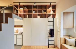 30平米简约风格loft单身公寓设计装修效果图