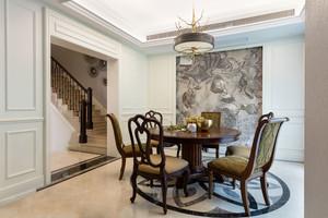 美式风格精致复古餐厅设计装修效果图