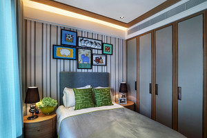169平米新中式风格复式楼室内装修效果图