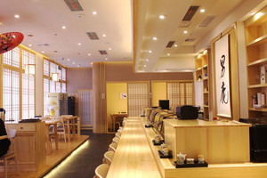 62平米日式风格餐厅设计装修效果图