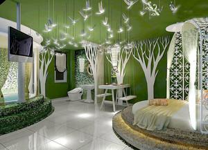 现代简约风格主题酒店客房设计装修效果图