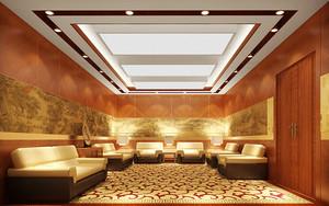 中式风格精致大气酒店会议室装修效果图