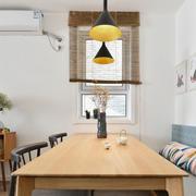 宜家风格简约餐厅卡座设计装修实景图