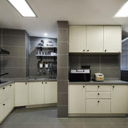 现代简约风格整体厨房设计装修效果图