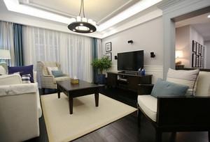 现代美式风格精装大户型室内设计装修效果图