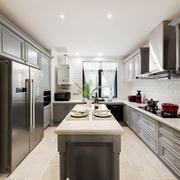 美式风格大户型室内整体厨房装修效果图