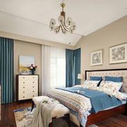 美式风格经典时尚卧室设计装修效果图
