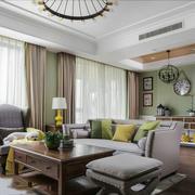 欧式风格精美大户型客厅设计装修效果图