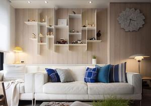 62平米现代简约风格一居室室内装修效果图