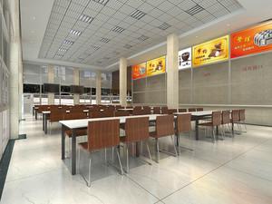 现代风格快餐店设计装修效果图赏析