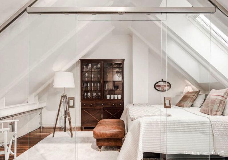 北欧风格阁楼卧室设计装修效果图赏析