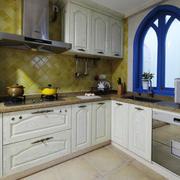 地中海风格精致厨房设计装修效果图赏析