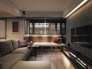 76平米后现代风格精致一居室室内设计装修效果图