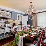 美式风格精致餐厅设计装修效果图鉴赏