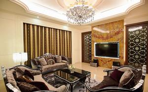 欧式风格精致三室两厅室内设计装修效果图赏析