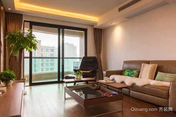 日式风格简约自然两室两厅室内装修效果图