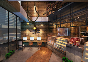 45平米简约风格面包店设计装修效果图