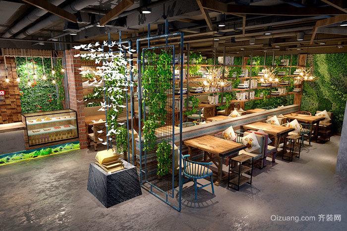 乡村风格精致咖啡厅设计装修效果图