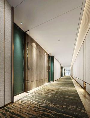 现代简约风格酒店过道设计装修效果图