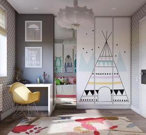 简约风格温馨甜美儿童房设计装修效果图