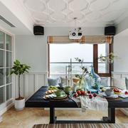 欧式风格精美餐厅卡座设计装修效果图