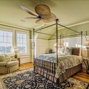 欧式田园风格自然温馨卧室设计装修效果图