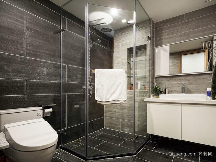 现代风格精致卫生间淋浴房设计装修效果图