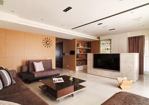 145平米现代简约风格复式楼室内装修效果图