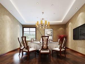 中式风格精致古典餐厅设计装修效果图