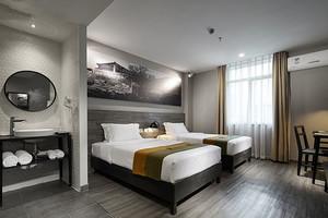 中式风格精致宾馆客房设计装修效果图