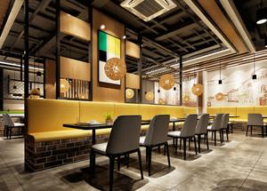 61平米现代简约风格餐厅设计装修效果图