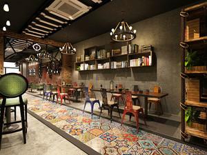 复古风格时尚咖啡厅设计装修效果图