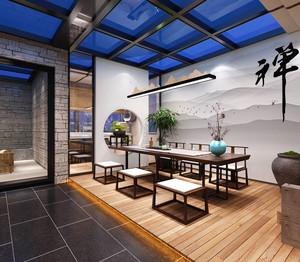 中式风格古典精致茶楼设计装修效果图