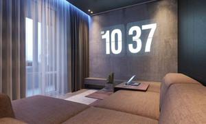 40平米简约风格单身公寓设计装修效果图
