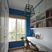 地中海风格精致书房设计装修效果图