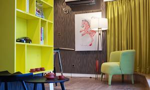 82平米简约风格三室两厅室内装修效果图