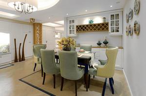 美式风格时尚精美餐厅设计装修效果图