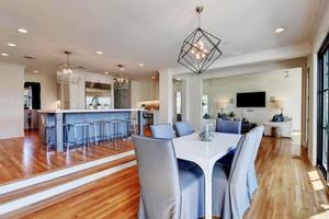 经典美式风格别墅开放式厨房设计装修效果图