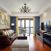 经典美式混搭风格时尚客厅装修效果图