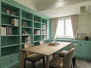 欧式田园风格清新复式楼室内装修效果图