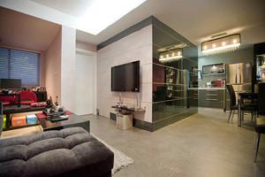 70平米户型现代风格时尚室内装修效果图
